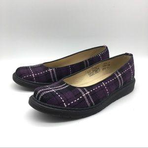 Dr. Martens Ellen Purple Plaid Flats
